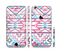 The Vector Pink & White Modern Aztec Pattern Sectioned Skin Series for the Apple iPhone 6 Plus