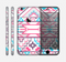 The Vector Pink & White Modern Aztec Pattern Skin for the Apple iPhone 6