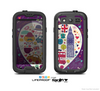 The Vector Purple Heart London Collage Skin For The Samsung Galaxy S3 LifeProof Case