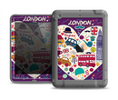 The Vector Purple Heart London Collage Apple iPad Air LifeProof Fre Case Skin Set