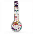 The Vector Purple Heart London Collage Skin for the Beats by Dre Solo 2 Headphones