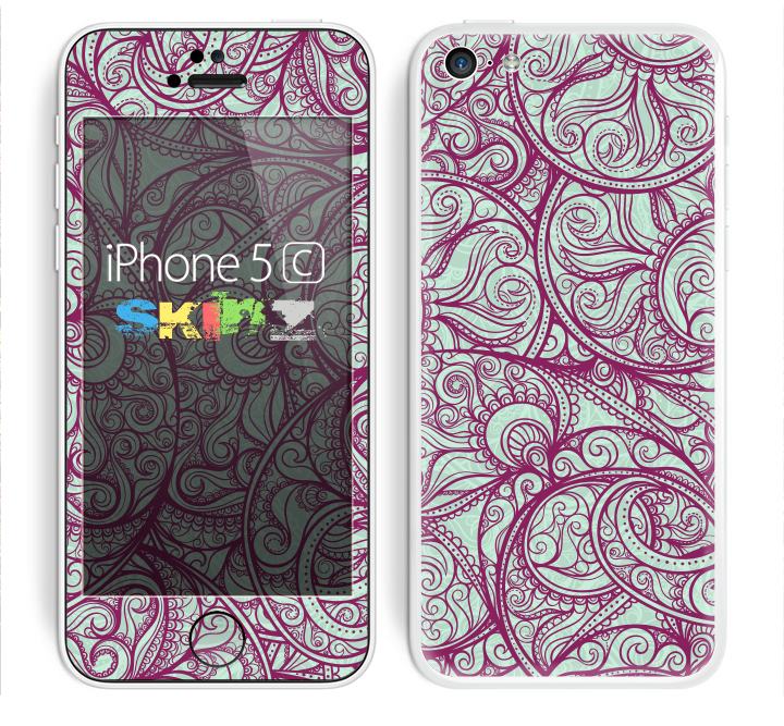 The Vector Purple Thin Laced Skin for the Apple iPhone 5c
