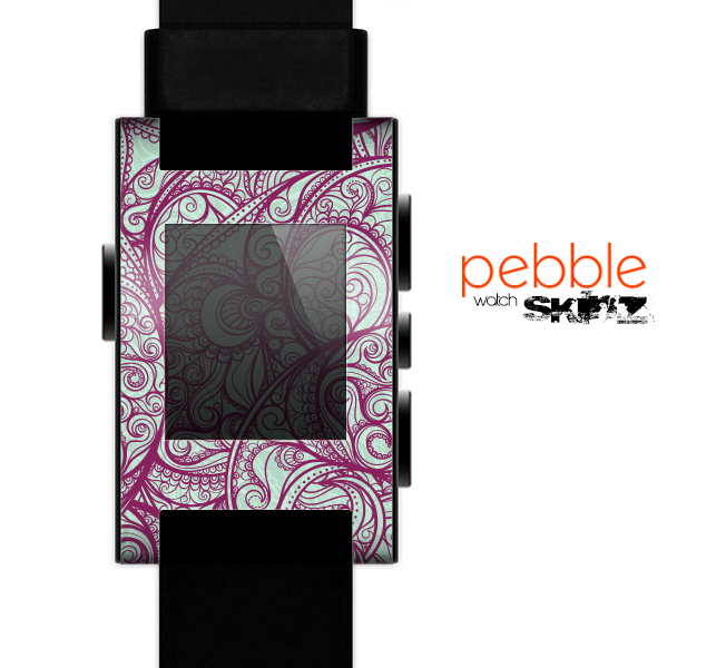 The Vector Purple Thin Laced Skin for the Pebble SmartWatch es