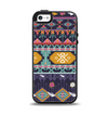 The Vector Purple and Colored Aztec pattern V4 Apple iPhone 5-5s Otterbox Symmetry Case Skin Set