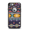 The Vector Purple and Colored Aztec pattern V4 Apple iPhone 6 Otterbox Defender Case Skin Set