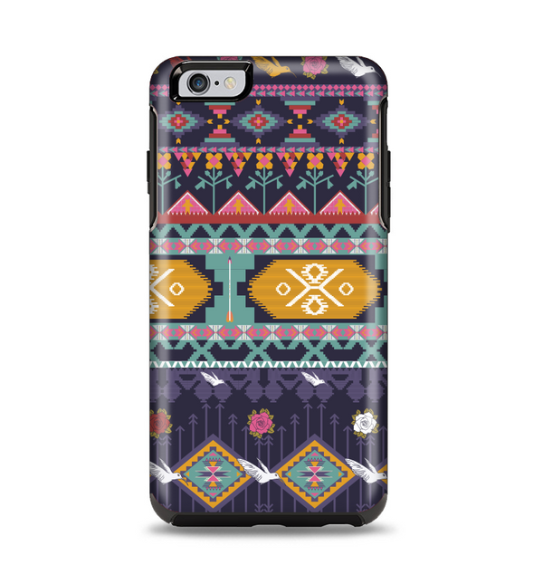 The Vector Purple and Colored Aztec pattern V4 Apple iPhone 6 Plus Otterbox Symmetry Case Skin Set