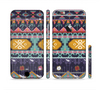 The Vector Purple and Colored Aztec pattern V4 Sectioned Skin Series for the Apple iPhone 6