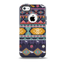 The Vector Purple and Colored Aztec pattern V4 Skin for the iPhone 5c OtterBox Commuter Case