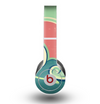 The Vector Retro Green Waves Skin for the Beats by Dre Original Solo-Solo HD Headphones