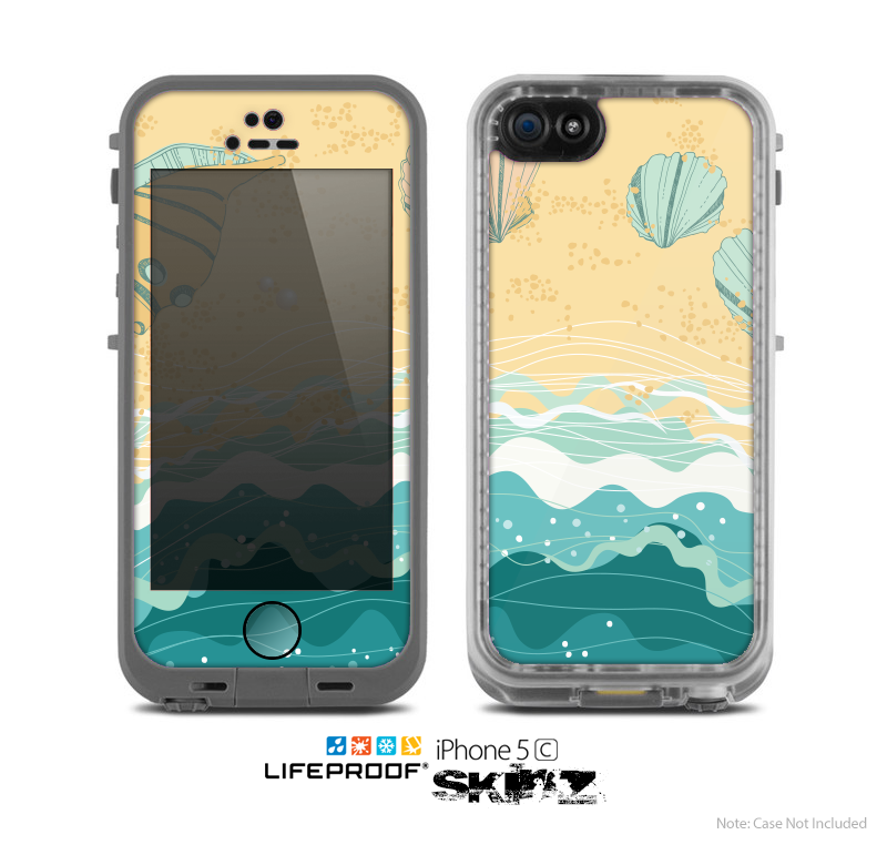 The Vector SeaShore Skin for the Apple iPhone 5c LifeProof Case