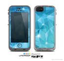 The Vector Shiny Blue Crystal Pattern Skin for the Apple iPhone 5c LifeProof Case