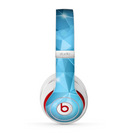The Vector Shiny Blue Crystal Pattern Skin for the Beats by Dre Studio (2013+ Version) Headphones