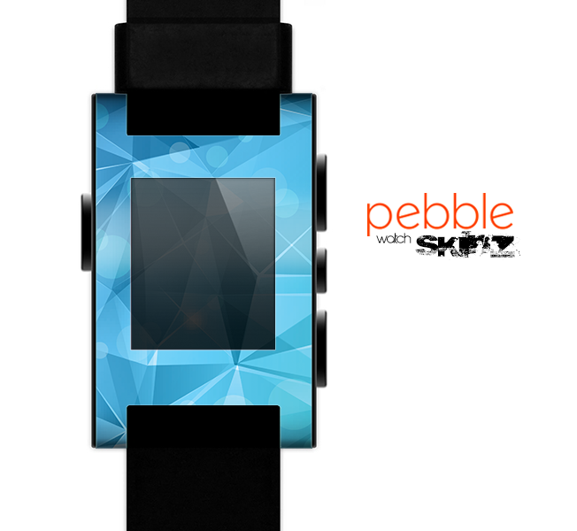 The Vector Shiny Blue Crystal Pattern Skin for the Pebble SmartWatch