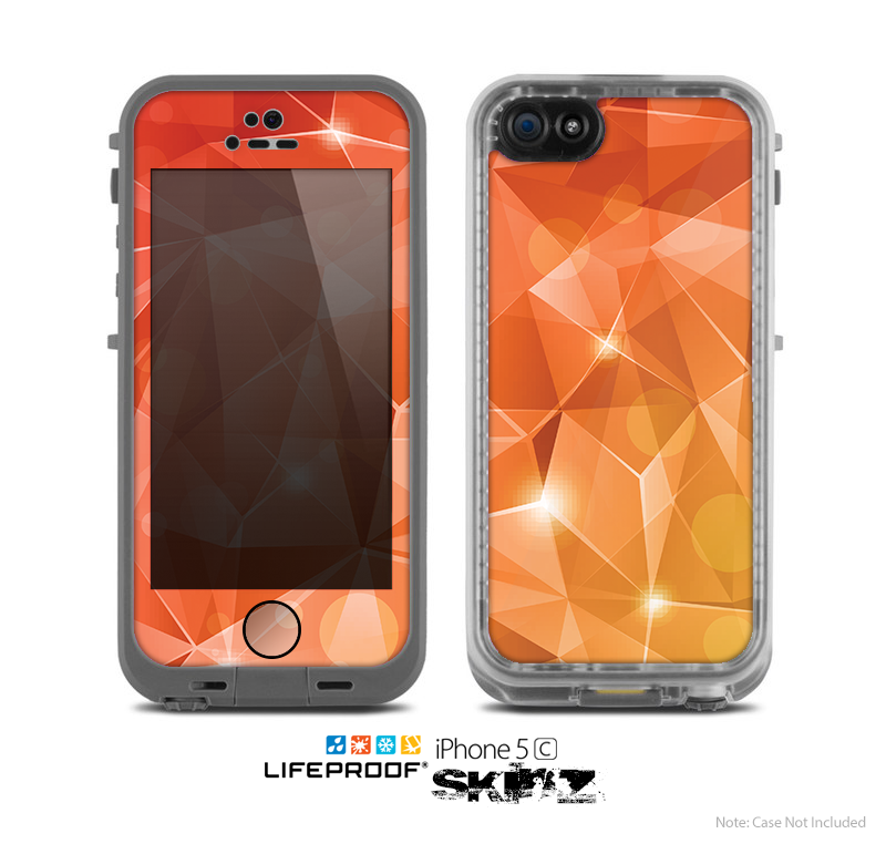 The Vector Shiny Coral Crystal Pattern Skin for the Apple iPhone 5c LifeProof Case