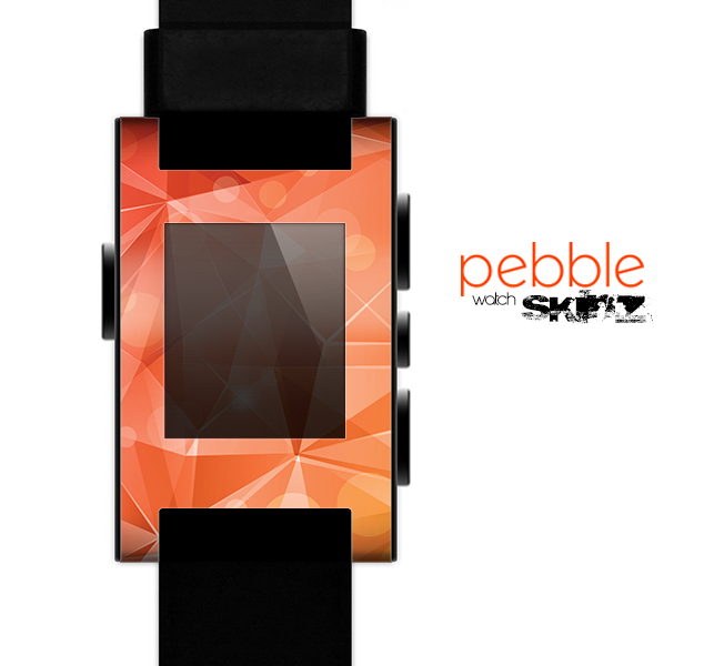 The Vector Shiny Coral Crystal Pattern Skin for the Pebble SmartWatch