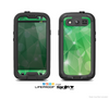 The Vector Shiny Green Crystal Pattern Skin For The Samsung Galaxy S3 LifeProof Case