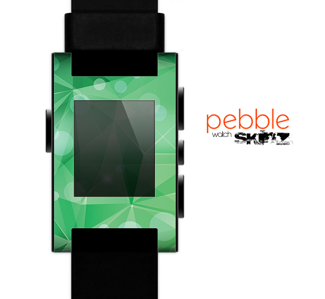 The Vector Shiny Green Crystal Pattern Skin for the Pebble SmartWatch