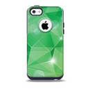 The Vector Shiny Green Crystal Pattern Skin for the iPhone 5c OtterBox Commuter Case