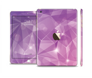 The Vector Shiny Pink Crystal Pattern Full Body Skin Set for the Apple iPad Mini 3