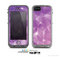 The Vector Shiny Pink Crystal Pattern Skin for the Apple iPhone 5c LifeProof Case