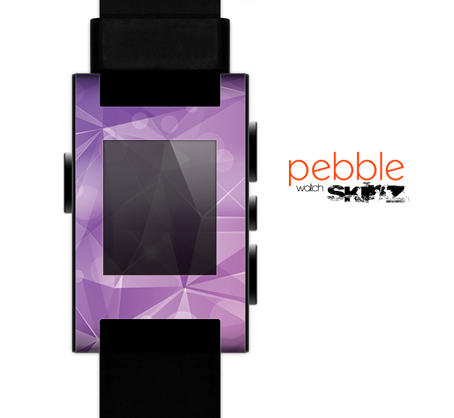 The Vector Shiny Pink Crystal Pattern Skin for the Pebble SmartWatch