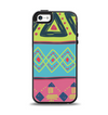The Vector Sketched Yellow-Teal-Pink Aztec Pattern Apple iPhone 5-5s Otterbox Symmetry Case Skin Set