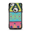 The Vector Sketched Yellow-Teal-Pink Aztec Pattern Apple iPhone 6 Otterbox Commuter Case Skin Set