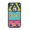 The Vector Sketched Yellow-Teal-Pink Aztec Pattern Apple iPhone 6 Otterbox Defender Case Skin Set