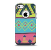 The Vector Sketched Yellow-Teal-Pink Aztec Pattern Skin for the iPhone 5c OtterBox Commuter Case