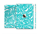 The Vector Subtle Blues Pattern Full Body Skin Set for the Apple iPad Mini 3