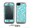 The Vector Subtle Blues Pattern Skin for the Apple iPhone 5c LifeProof Case