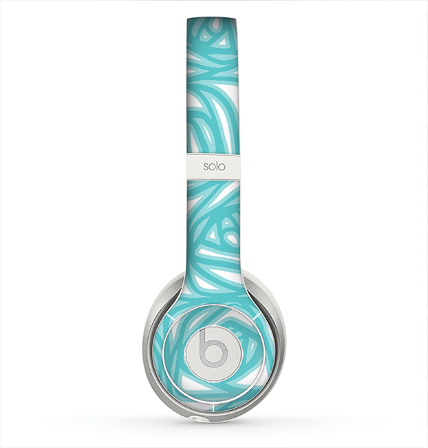 The Vector Subtle Blues Pattern Skin for the Beats by Dre Solo 2 Headphones