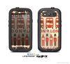 The Vector Tan and Red London Skin For The Samsung Galaxy S3 LifeProof Case