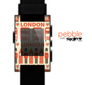 The Vector Tan and Red London Skin for the Pebble SmartWatch