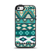 The Vector Teal & Green Aztec Pattern  Apple iPhone 5-5s Otterbox Symmetry Case Skin Set