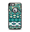The Vector Teal & Green Aztec Pattern  Apple iPhone 6 Otterbox Defender Case Skin Set