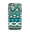 The Vector Teal & Green Aztec Pattern  Apple iPhone 6 Plus Otterbox Symmetry Case Skin Set