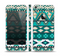 The Vector Teal & Green Aztec Pattern Skin Set for the Apple iPhone 5