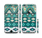 The Vector Teal & Green Aztec Pattern Sectioned Skin Series for the Apple iPhone 6 Plus