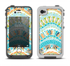 The Vector Teal & Green Snake Aztec Pattern Apple iPhone 4-4s LifeProof Fre Case Skin Set
