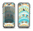 The Vector Teal & Green Snake Aztec Pattern Apple iPhone 5c LifeProof Nuud Case Skin Set