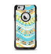 The Vector Teal & Green Snake Aztec Pattern Apple iPhone 6 Otterbox Commuter Case Skin Set