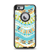 The Vector Teal & Green Snake Aztec Pattern Apple iPhone 6 Otterbox Defender Case Skin Set
