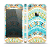 The Vector Teal & Green Snake Aztec Pattern Skin Set for the Apple iPhone 5s