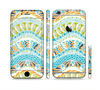 The Vector Teal & Green Snake Aztec Pattern Sectioned Skin Series for the Apple iPhone 6
