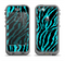 The Vector Teal Zebra Print Apple iPhone 5c LifeProof Nuud Case Skin Set