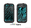 The Vector Teal Zebra Print Skin For The Samsung Galaxy S3 LifeProof Case