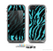 The Vector Teal Zebra Print Skin for the Apple iPhone 5c LifeProof Case