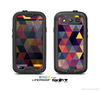 The Vector Triangular Coral & Purple Pattern Skin For The Samsung Galaxy S3 LifeProof Case