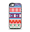 The Vector White-Blue-Red Aztec Pattern Apple iPhone 5-5s Otterbox Symmetry Case Skin Set